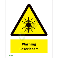 ISO安全标识: Warning Laser beam