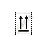 危险货物运输包装标记: 方向标记2A(黑色)