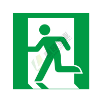 ISO安全标签:Emergency exit (left hand)