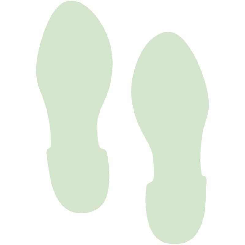 蓄光型地贴引导标识脚印Light Storage Footprint