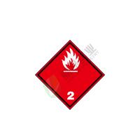 危险货物运输包装标识:  易燃气体 2