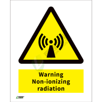 ISO安全标识: Warning Non-ionizing radiation