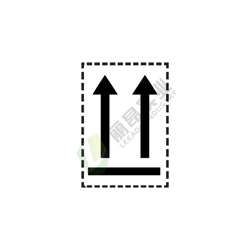 危险货物运输包装标记: 方向标记1A(黑色)