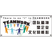 安全主题横幅:团队精神是企业文化的核心