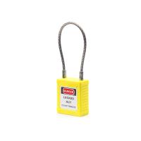 不锈钢缆绳锁-黄
