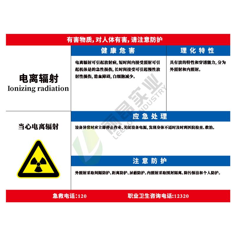 职业病危害告知看板: 电离辐射