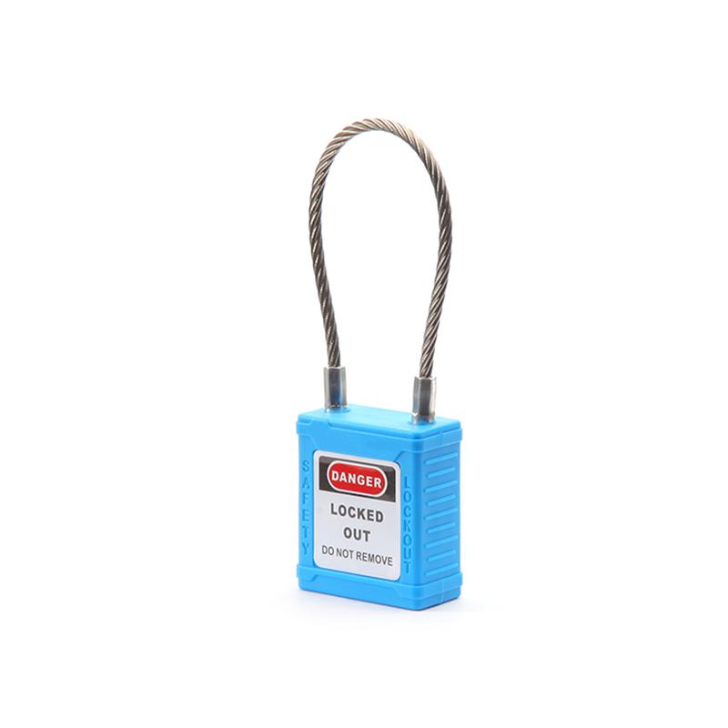 不锈钢缆绳锁-蓝