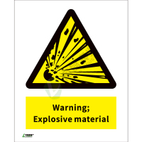 ISO安全标识: Warning Explosive material