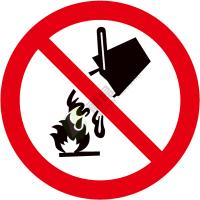 国标GB安全标签-禁止类:禁止用水灭火No extinguishing with water-中英文双语版