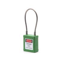 不锈钢缆绳锁-绿