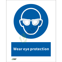 ISO安全标识: Wear eye protection