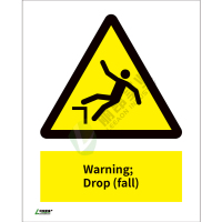 ISO安全标识: Warning Drop (fall)