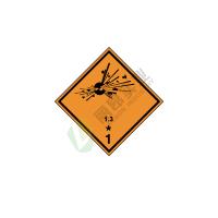 危险货物运输包装标识: 爆炸性物质或物品1.3