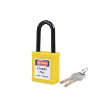 尼龙锁梁绝缘安全挂锁-黄
