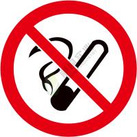 国标GB安全标签-禁止类:禁止吸烟No smoking-中英文双语版