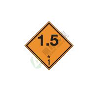 危险货物运输包装标识: 爆炸性物质或物品1.5