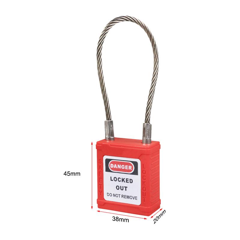 不锈钢缆绳锁-红