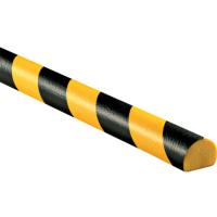D形黑黄相间低密度PU防撞条