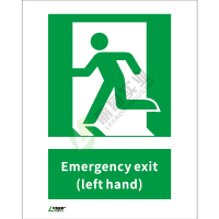 ISO安全标识: Emergency exit (left hand)