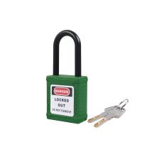 尼龙锁梁绝缘安全挂锁-绿