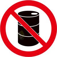 国标GB安全标签-禁止类:禁止放置易燃物No laying inflammable thing-中英文双语版