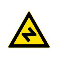 反向转弯路标志