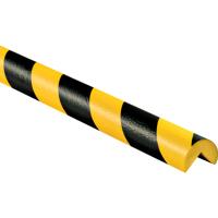外圆直角形黑黄相间低密度PU防撞条