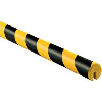 外圆槽形黑黄相间低密度PU防撞条