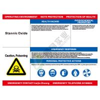 职业病危害告知看板: Stannic oxide(二氧化锡)