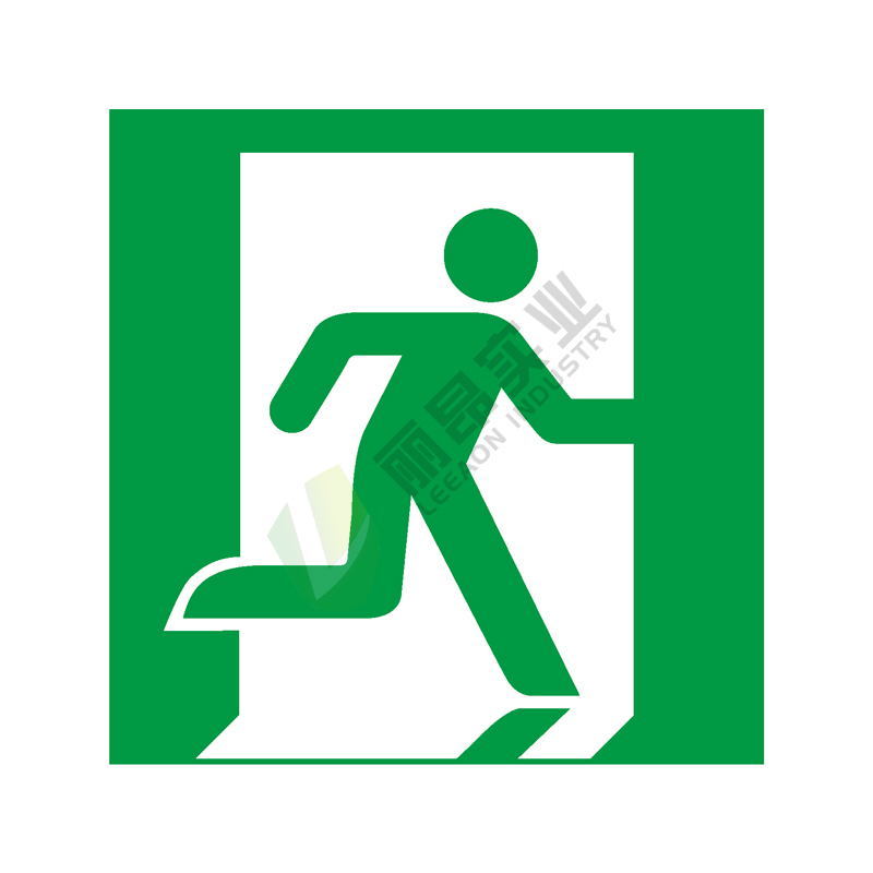 ISO安全标签:Emergency exit (right hand)
