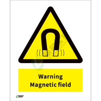 ISO安全标识: Warning Magnetic field