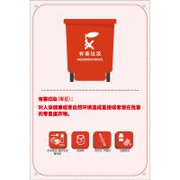 列举式生活垃圾分类标识有害垃圾